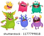 cartoon monsters. vector set of ... | Shutterstock .eps vector #1177799818