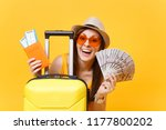 close up tourist woman in... | Shutterstock . vector #1177800202