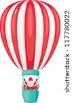 santa claus on the airship with ... | Shutterstock .eps vector #117780022