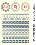 set of vintage borders and... | Shutterstock .eps vector #1177801888