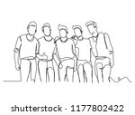 continuous line drawing of a... | Shutterstock .eps vector #1177802422
