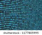 binary code background.... | Shutterstock .eps vector #1177805995