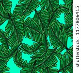 seamless pattern of tropical... | Shutterstock .eps vector #1177806415