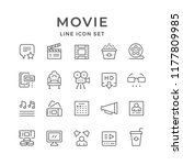 set line icons of movie | Shutterstock .eps vector #1177809985