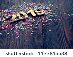 happy new year 2019 | Shutterstock . vector #1177815538