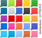 25 speech bubble web icon...
