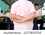 photo of thai students are arm... | Shutterstock . vector #1177825705