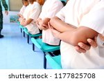 photo of thai students are arm... | Shutterstock . vector #1177825708