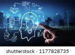businessman on blurred... | Shutterstock . vector #1177828735