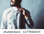 corporate beard man releases... | Shutterstock . vector #1177836415