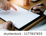 business people signing... | Shutterstock . vector #1177837855