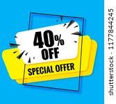 40  off. sale banner template... | Shutterstock .eps vector #1177844245