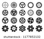 cogwheel flat machine gear icon.... | Shutterstock .eps vector #1177852132