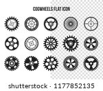 cogwheel flat machine gear icon.... | Shutterstock .eps vector #1177852135