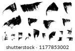 mascara strokes set. grunge... | Shutterstock .eps vector #1177853002
