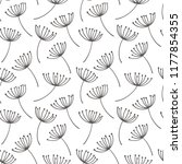 hand drawn pattern with... | Shutterstock . vector #1177854355