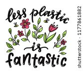 less plastic is fantastic....   Shutterstock .eps vector #1177861882