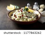 cauliflower couscous with... | Shutterstock . vector #1177863262