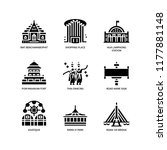 bangkok symbols and landmarks... | Shutterstock .eps vector #1177881148