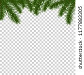 fir tree border background.... | Shutterstock .eps vector #1177883305