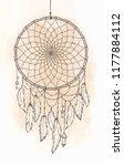 hand drawn native american... | Shutterstock .eps vector #1177884112