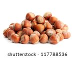 Tasty  Hazelnuts  Isolated On...