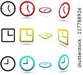 set of twelve clock icons  in... | Shutterstock .eps vector #117788926