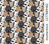 cute dog pattern background.... | Shutterstock .eps vector #1177889482