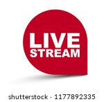 red vector banner live stream | Shutterstock .eps vector #1177892335