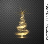 christmas shiny tree background ... | Shutterstock .eps vector #1177894552