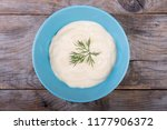 vegetable mousse soup served in ... | Shutterstock . vector #1177906372