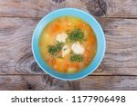 vegetable soup served with... | Shutterstock . vector #1177906498