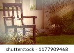 natural picture of a chair made ... | Shutterstock . vector #1177909468