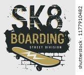 skateboard t shirt design .... | Shutterstock .eps vector #1177910482