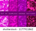 grunge set of seamless pattern... | Shutterstock .eps vector #1177911862