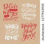 vector set of holidays... | Shutterstock .eps vector #1177913935