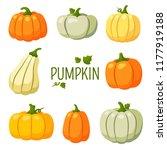 pumpkin  halloween  gourd ... | Shutterstock .eps vector #1177919188