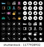 vector hotel icons | Shutterstock .eps vector #1177928932