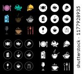 restaurant icons set | Shutterstock .eps vector #1177928935