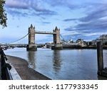 a view of tower bridge in... | Shutterstock . vector #1177933345