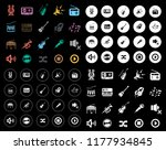 music icons set | Shutterstock .eps vector #1177934845