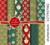 set of seamless christmas...   Shutterstock .eps vector #1177937482