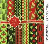 set of seamless christmas...   Shutterstock .eps vector #1177937488