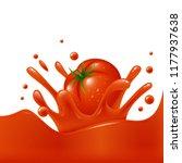 banner template tomato juice...   Shutterstock .eps vector #1177937638