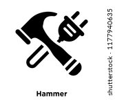 hammer icon vector isolated on...