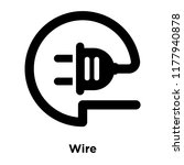 wire icon vector isolated on... | Shutterstock .eps vector #1177940878