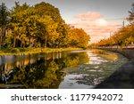 dublin grand canal during... | Shutterstock . vector #1177942072