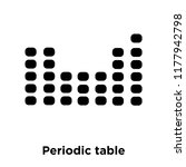 periodic table icon vector... | Shutterstock .eps vector #1177942798