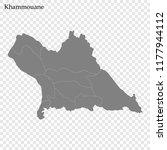 high quality map of khammouane... | Shutterstock .eps vector #1177944112