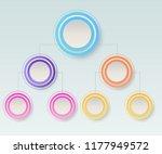 business hierarchy organogram... | Shutterstock .eps vector #1177949572